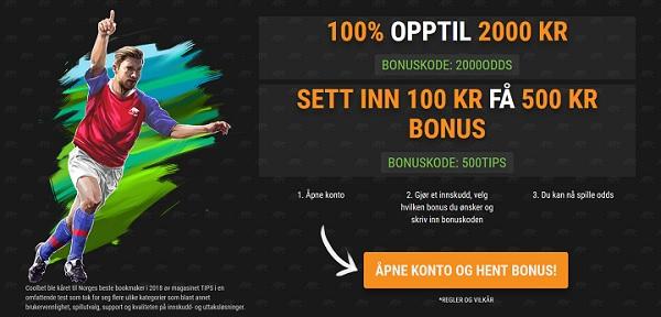 Spill med Coolbet oddsbonus 2019