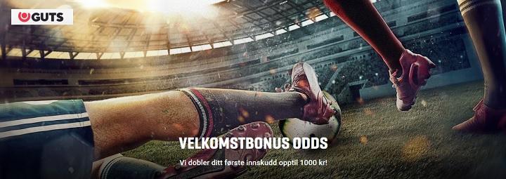 Guts oddsbonus 1000 kr til nye spillere