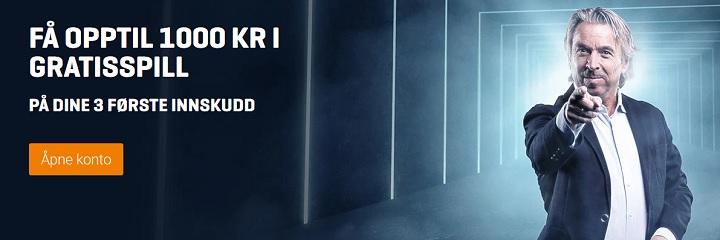 NordicBet bookmakerbonus opptil 1000 kr