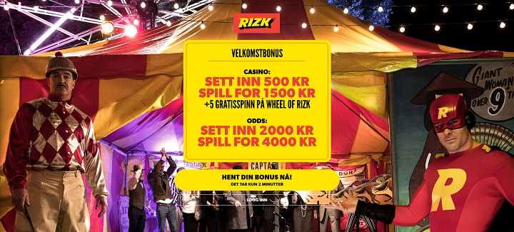Rizk – ny bookmaker i Norge